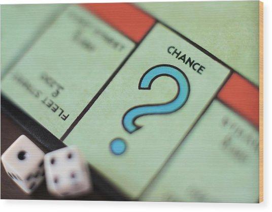 Monopoly Chance - Question Mark, Concept Wood Print by Marco Rosario Venturini Autieri