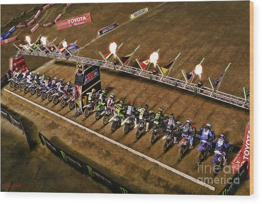 Monster Energy Ama Supercross  450sx Main Wood Print