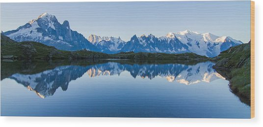 Mont Blanc Massif Panorama Wood Print