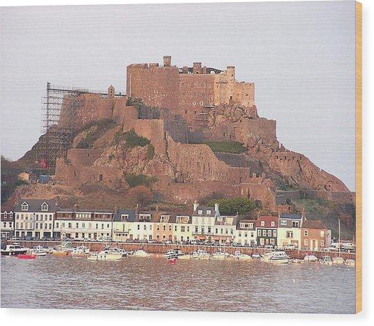 Mont Orgueil Gorey Castle Wood Print