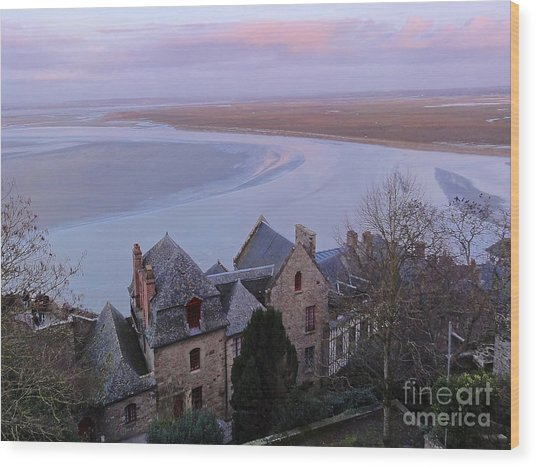 Mont St Michel Tower View Wood Print