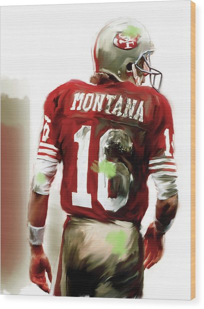 Montana II  Joe Montana Wood Print
