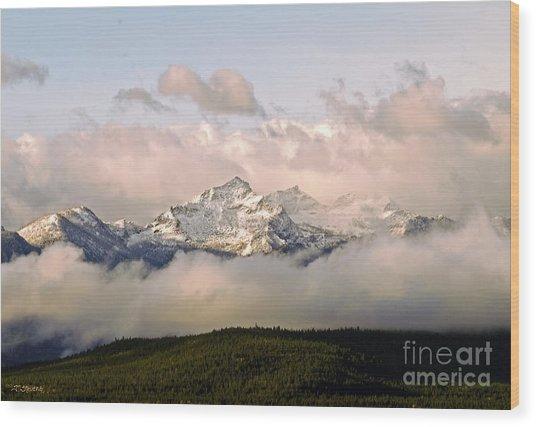 Montana Mountain Wood Print
