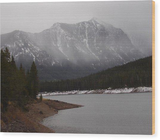 Montana Winter Wood Print by Yvette Pichette