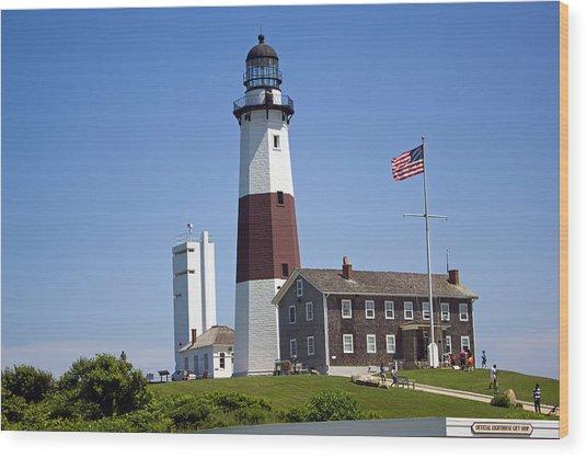 Montauk Lighthouse Long Island New York Wood Print