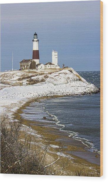 Montauk Snow Wood Print