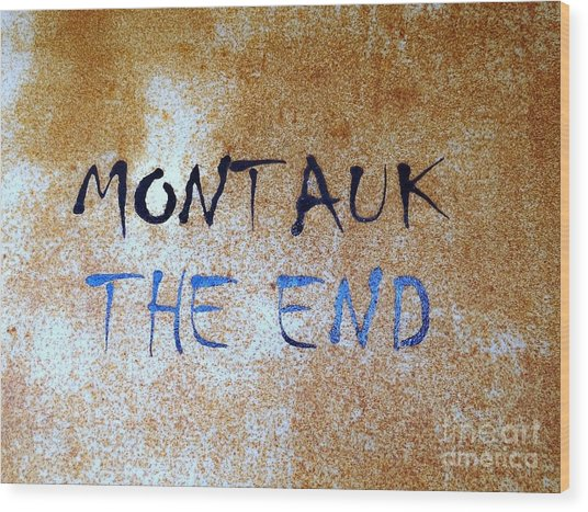 Montauk-the End Wood Print