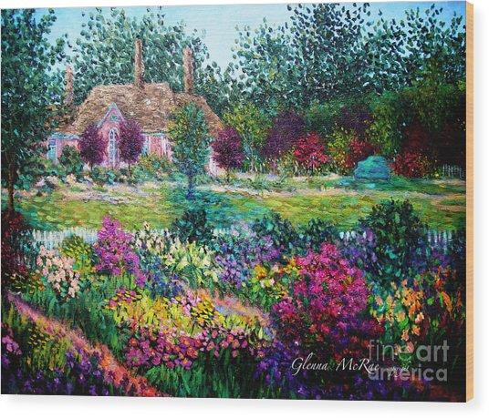 Montclair English Garden Wood Print