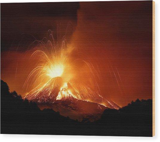 Monte Etna Wood Print