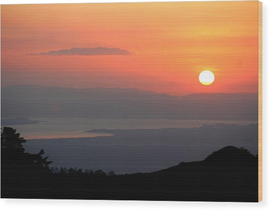 Monte Verde Sunset Wood Print