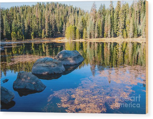 Montecito Lake Wood Print
