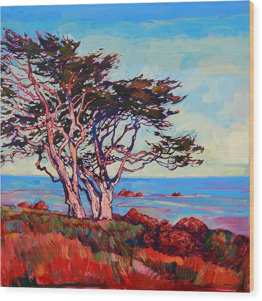 Monterey Diptych Right Panel Wood Print