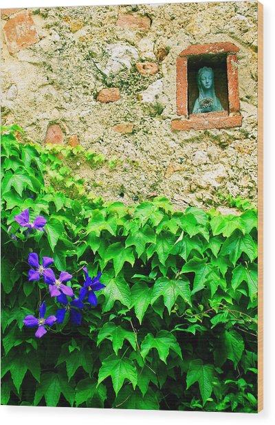 Monteriggioni Virgin Wood Print
