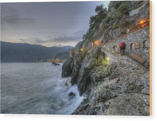 Monterosso At Sunset Wood Print