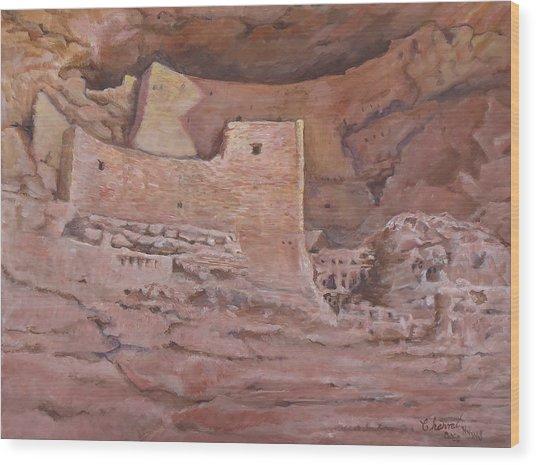Montezumas Castle Wood Print