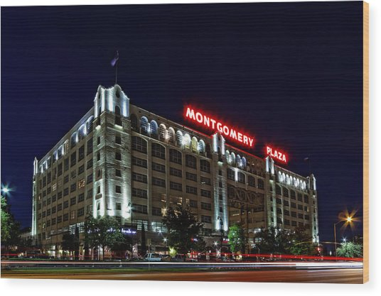 Montgomery Plaza Fort Worth Wood Print