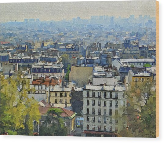 Montmartre View Wood Print by Yury Malkov