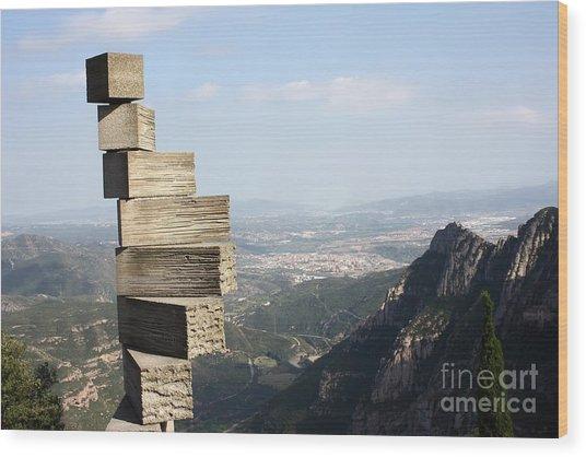 Montserrat Spain Wood Print by Sophie Vigneault