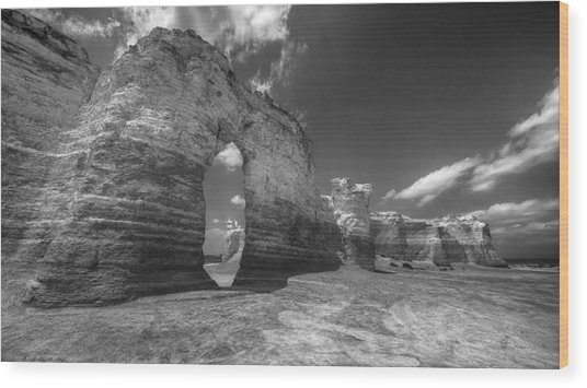 Monument Rock Wood Print