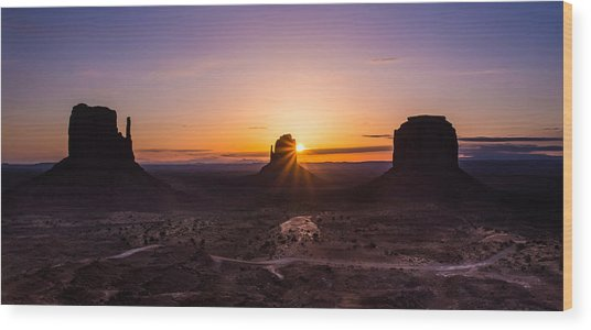 Monument Sunrise Wood Print