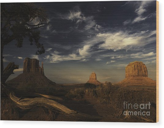 Monument Valley 1 Wood Print by Richard Mason