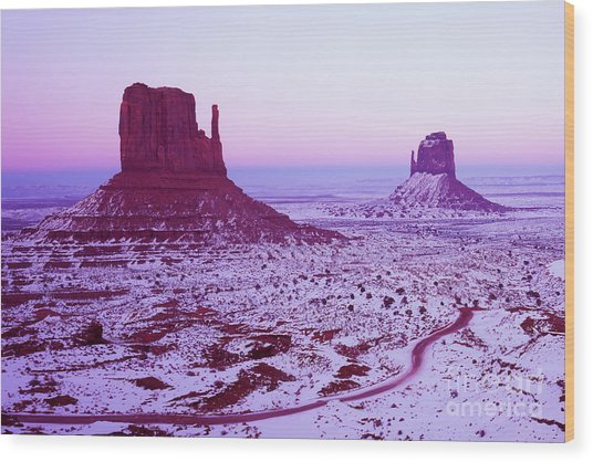 Monument Valley At New Year's Day Wood Print