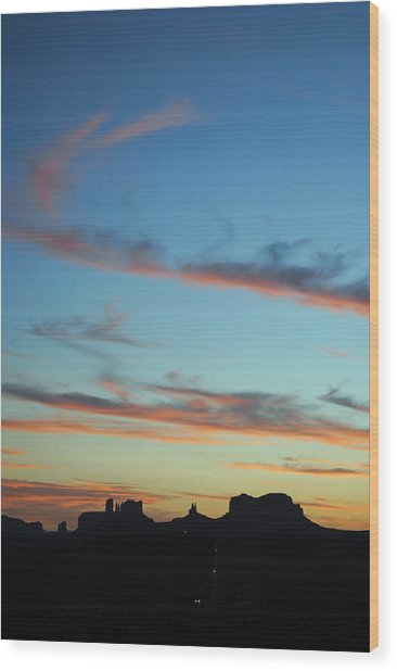 Monument Valley Sunset 3 Wood Print