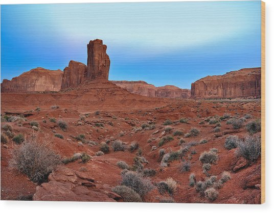 Monument Valley View Wood Print