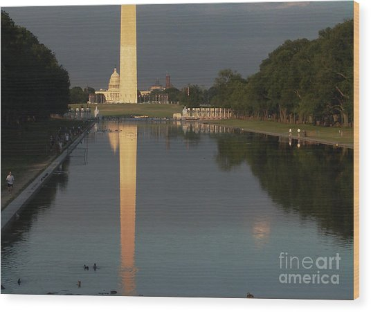 Monumental Reflection Wood Print