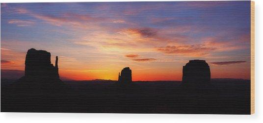 Monumental Sunrise Wood Print
