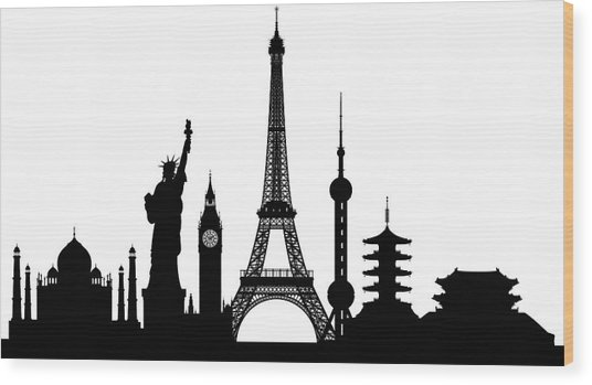 Monuments Buildings Are Complete And Wood Print by Leontura