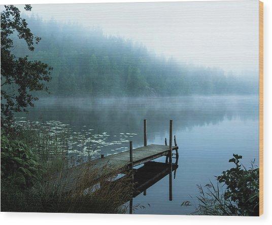 Moody Morning Wood Print