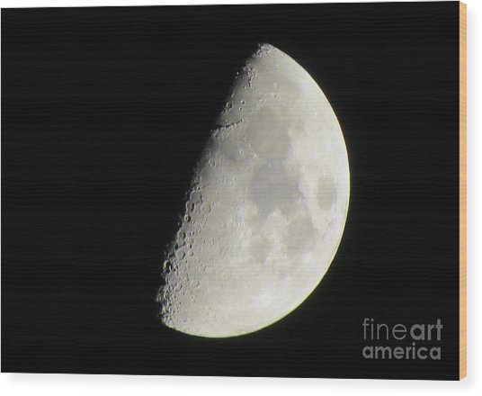 Moon 4 Wood Print