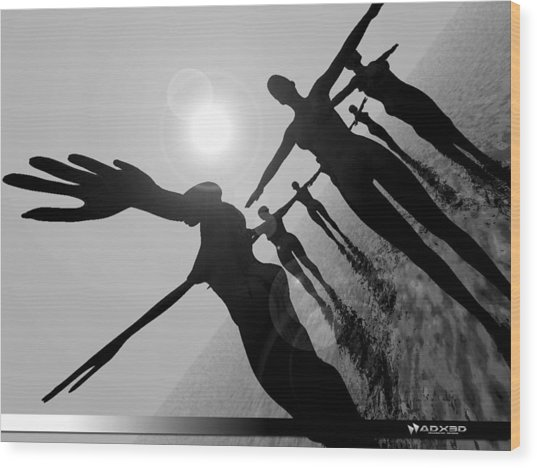 Moon Dancers Wood Print