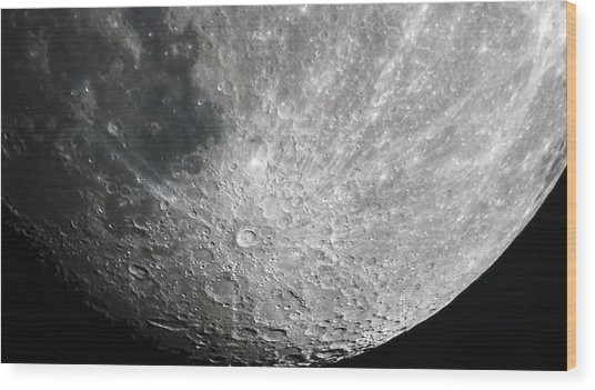 Moon Hi Contrast Wood Print