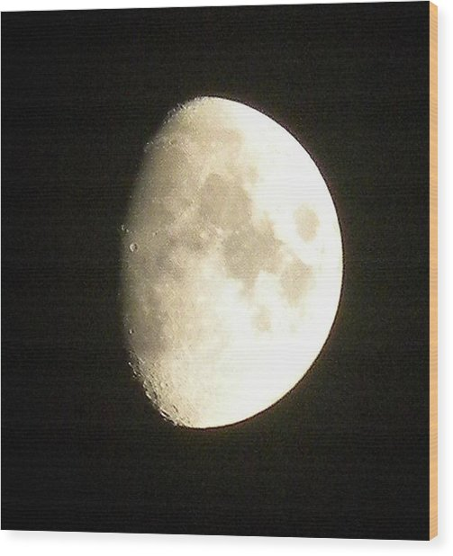 Moon Lit Night Wood Print