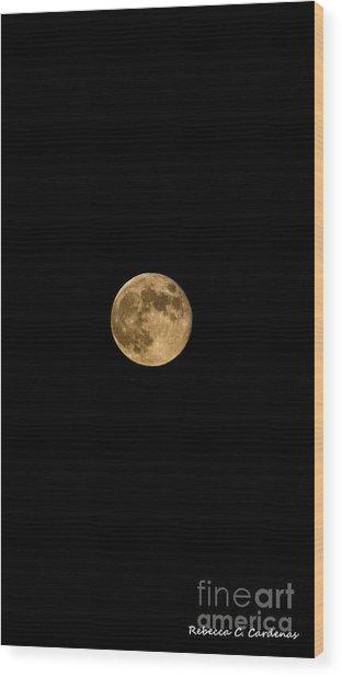 Moon Nights Wood Print by Rebecca Christine Cardenas