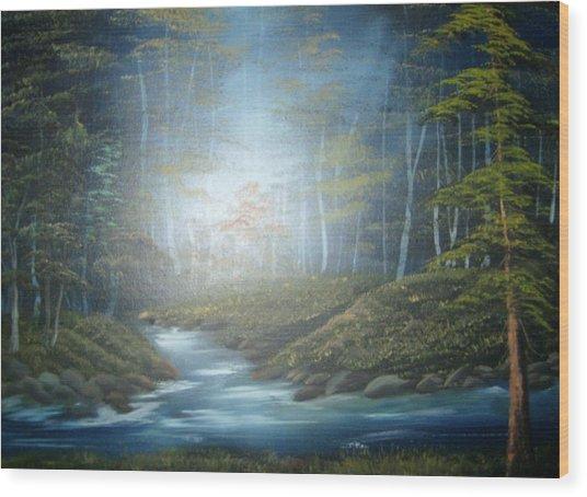 Moon River Mystery Wood Print