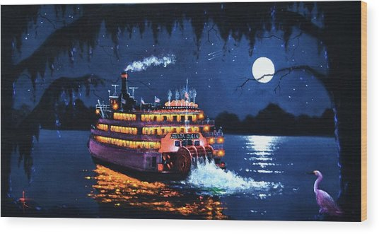 Moon River Wood Print