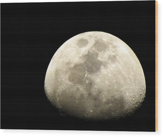 Moon Wood Print by Sanjeewa Marasinghe
