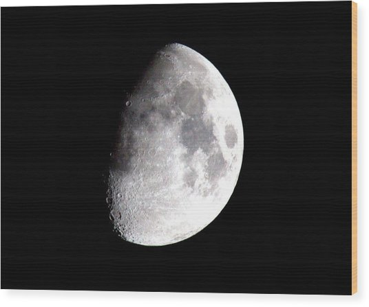 Laura's Moon Wood Print