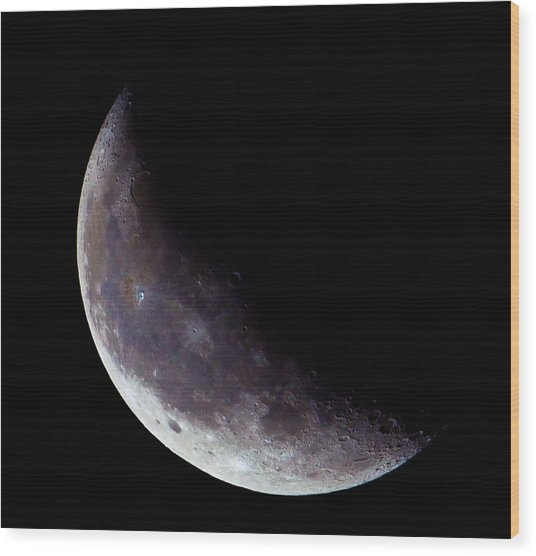 Moon Sliver Wood Print by Todd Ryburn