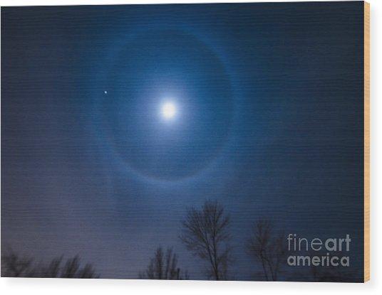 Moonbow Over Chicago 1 Wood Print by Deborah Smolinske