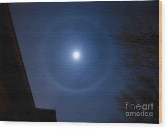 Moonbow Over Chicago 3 Wood Print by Deborah Smolinske