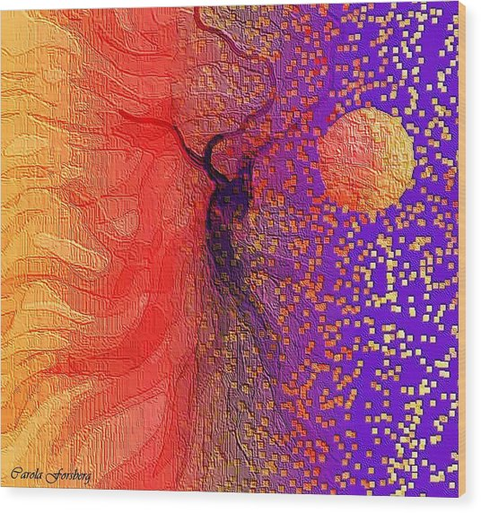 Moondance Wood Print by Carola Ann-Margret Forsberg