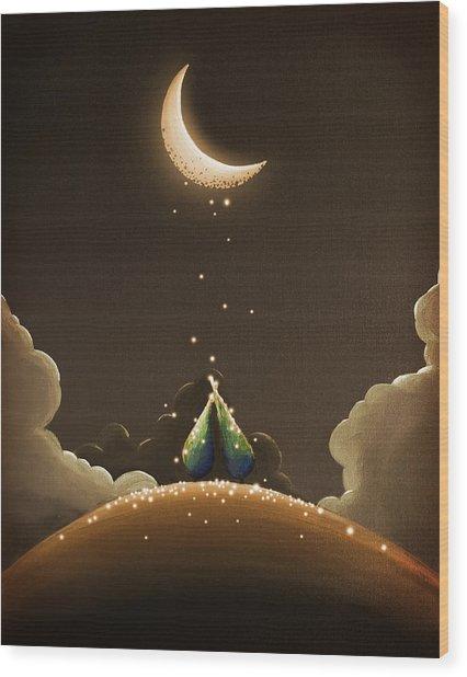 Moondust Wood Print