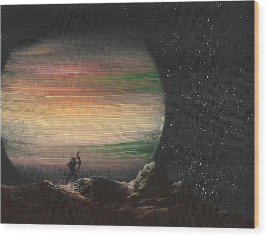 Moonhunter Wood Print