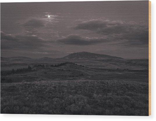 Moonlight Wood Print