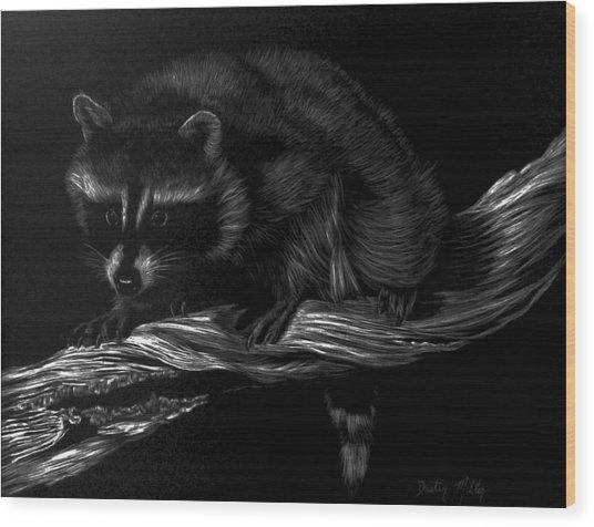 Moonlight Bandit Wood Print