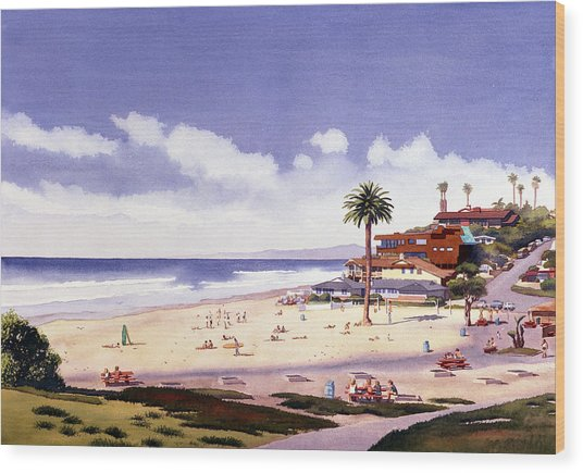 Moonlight Beach Encinitas Wood Print
